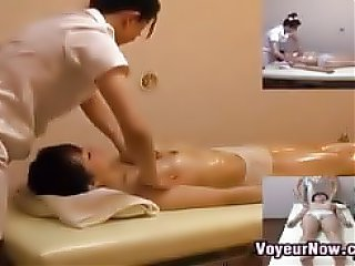 Asian slut getting a happy ending by another chick in this thorough massage finger banging feastivitiy...