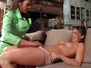 Older Lesbian Woman Seduces Teen