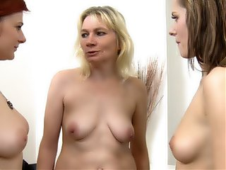 After a lot of orgasms, vibrators, and pussy licking they both kiss their teacher in thanks.