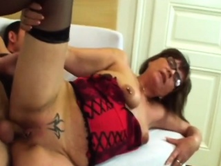 Slutty Granny Jana Gets Pounded By Long Cock